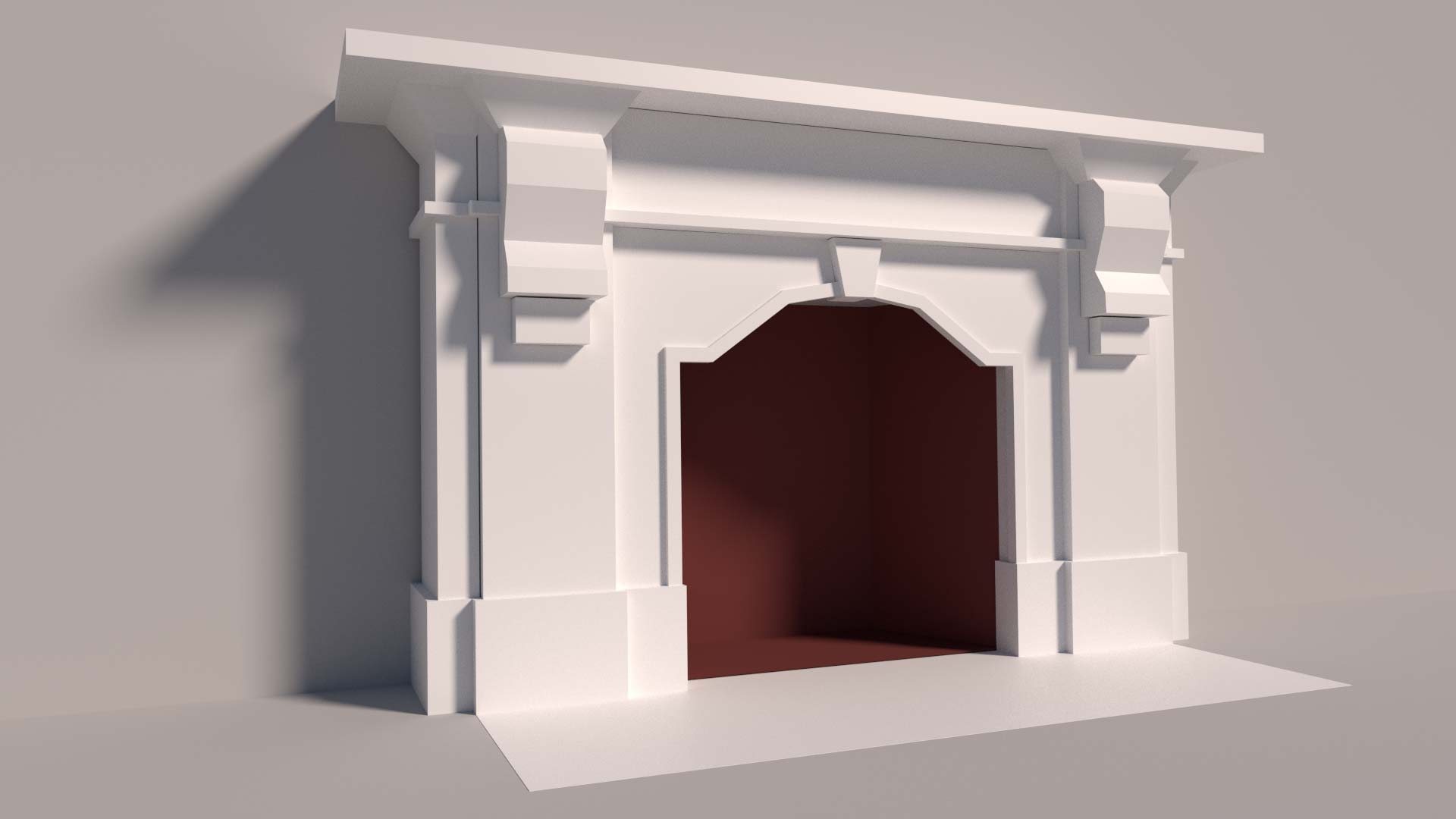 3d model of Victorian marble fireplace
