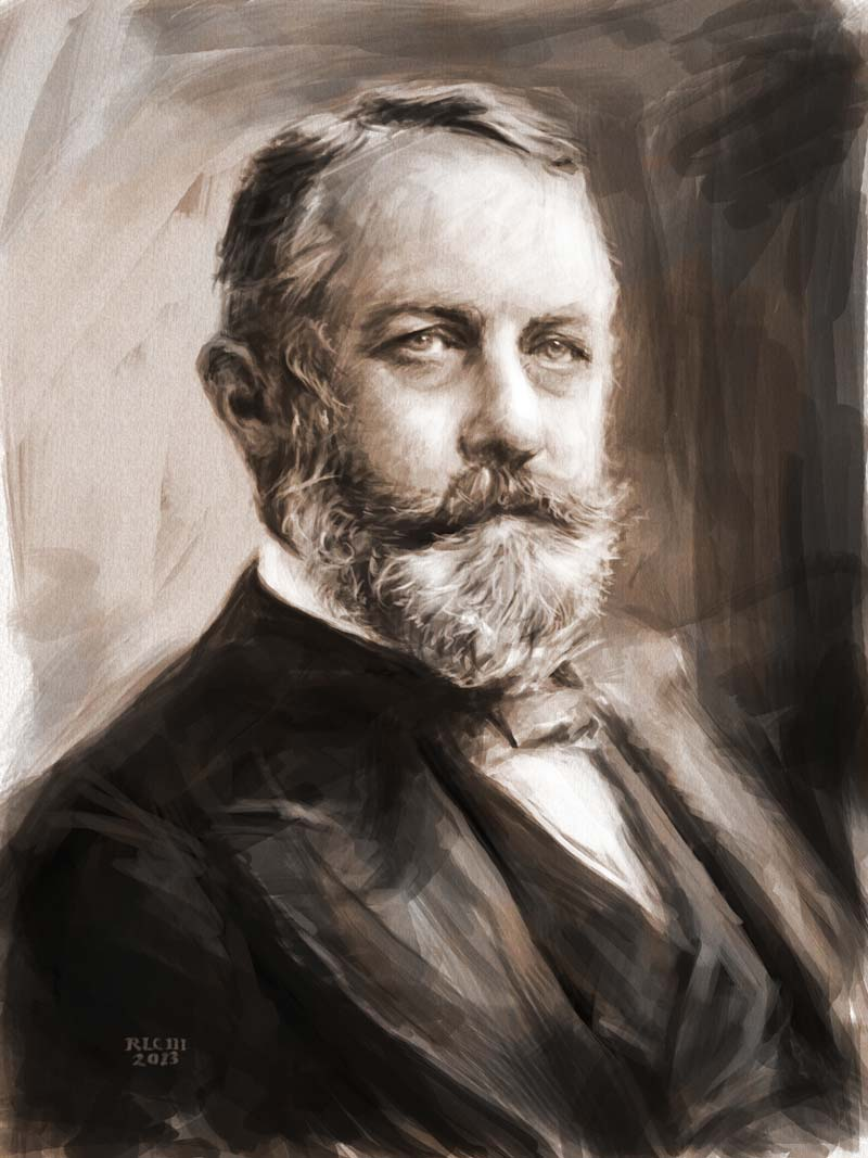 Henry Clay Frick drawing by Ricky Colson