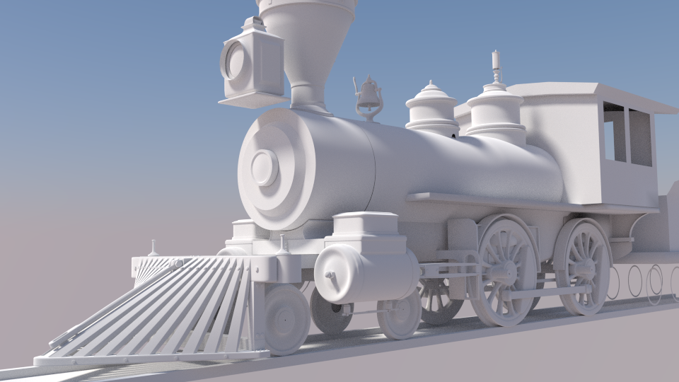 3d clay model of steam train