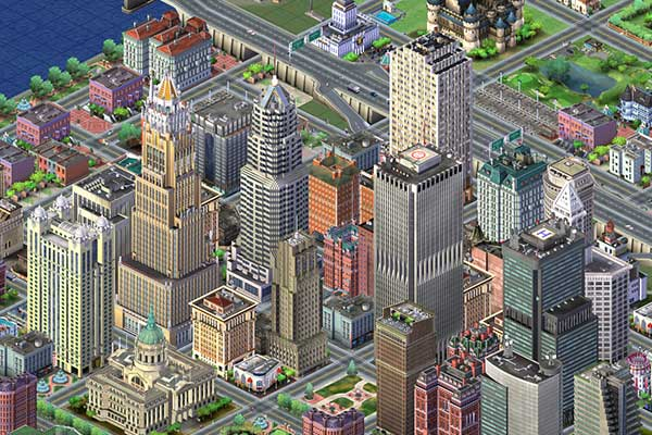 game shot of SimCity
