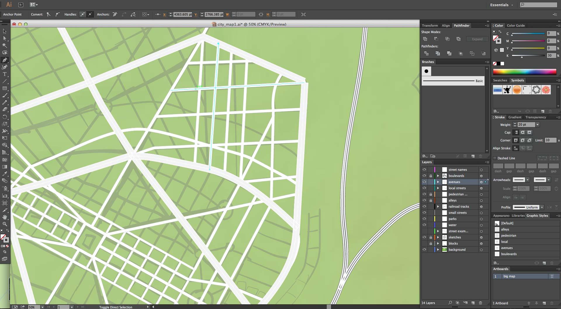 city grid work in progress