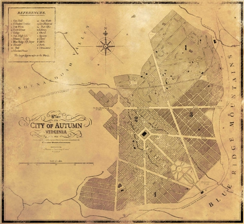 1879 city plan of Autumn Virginia