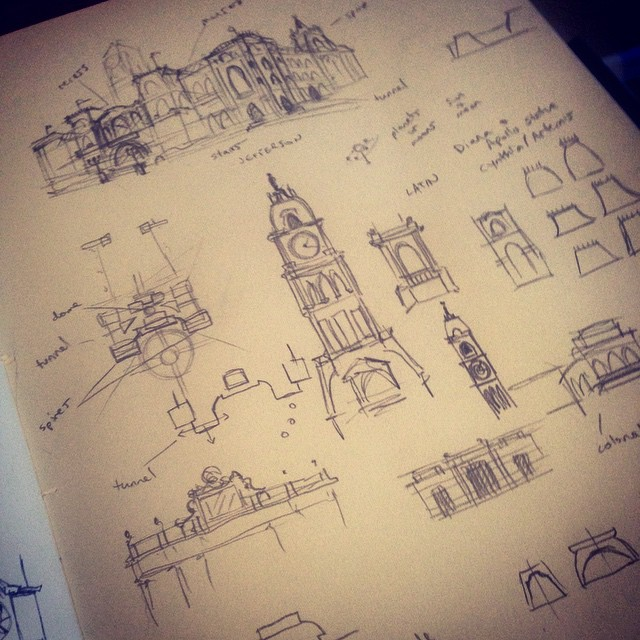 Early sketches for Autumn City Hall