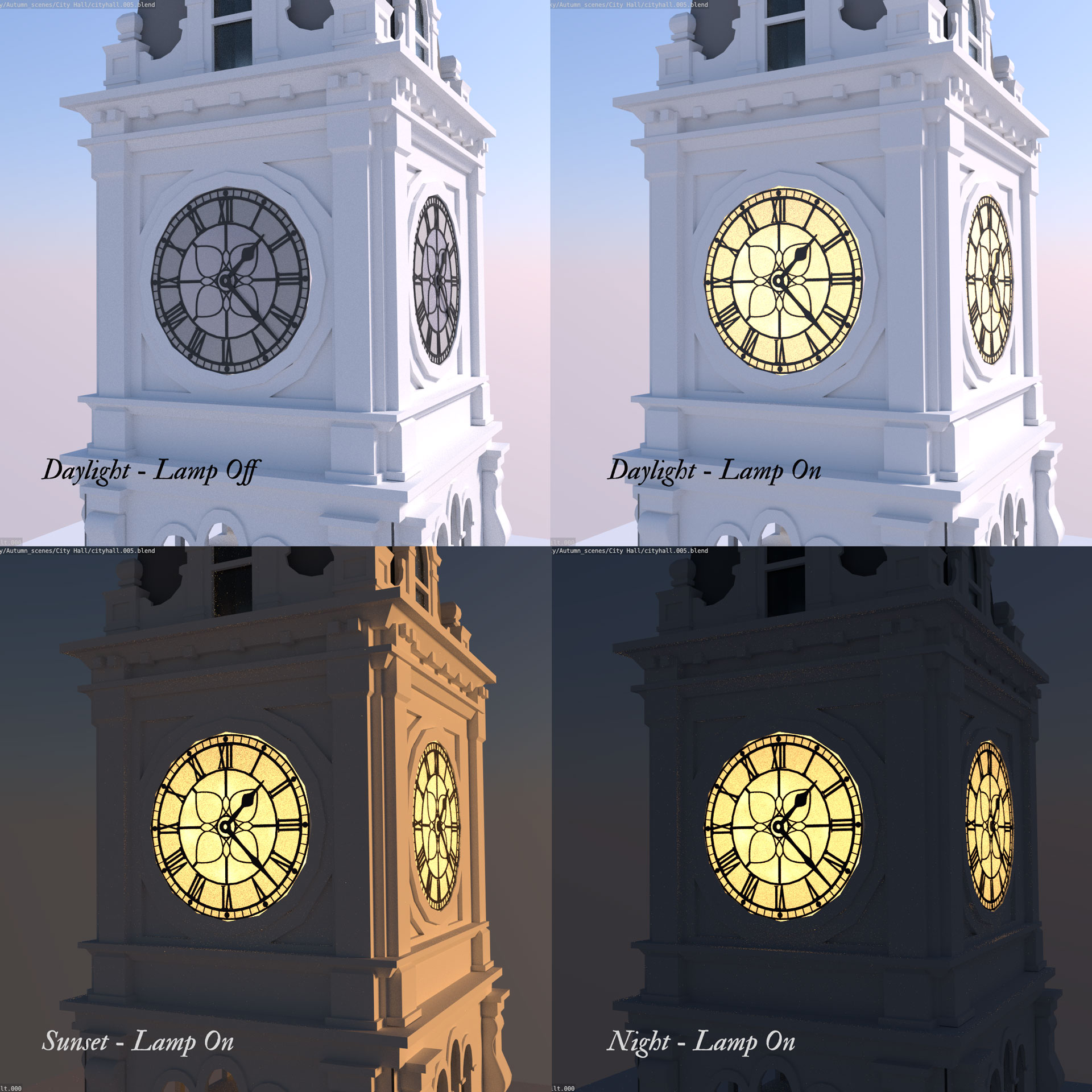 city hall clock tower