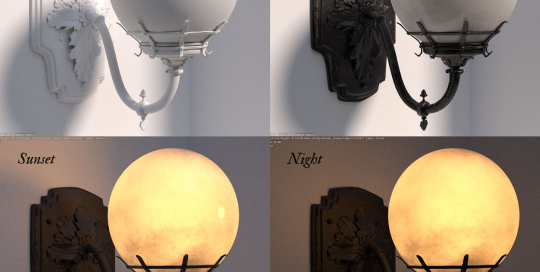 Victorian lamp models Blender