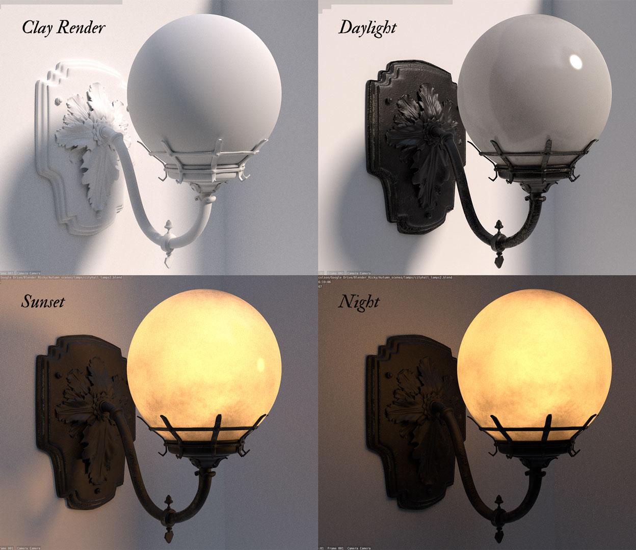 Victorian lamp models Blender