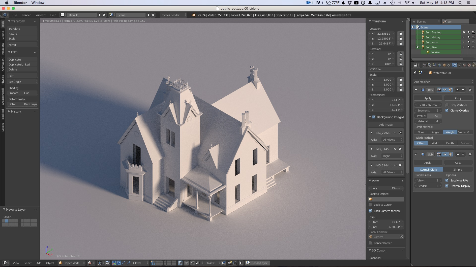 3d model of gothic house in blender