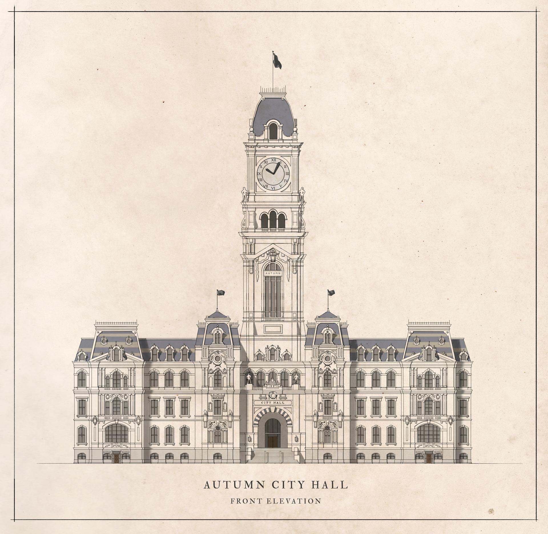 Autumn City Hall
