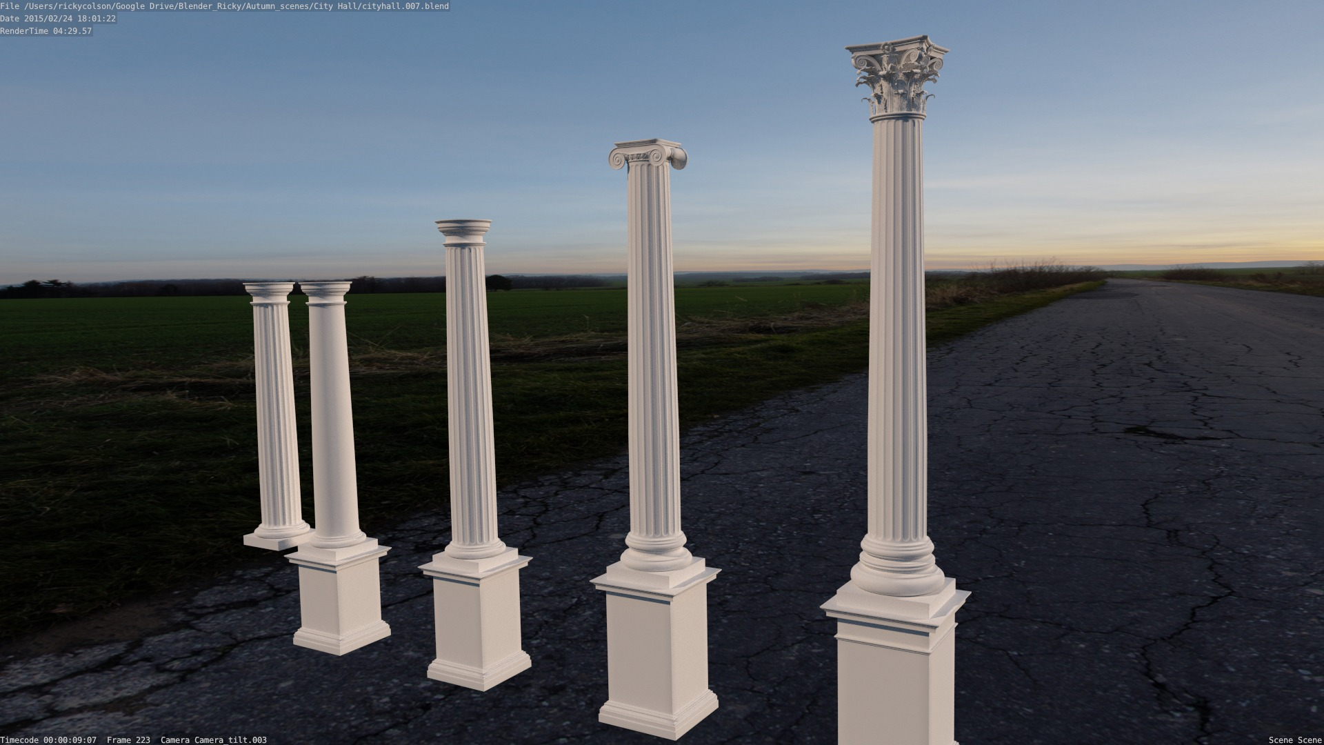 traditional columns